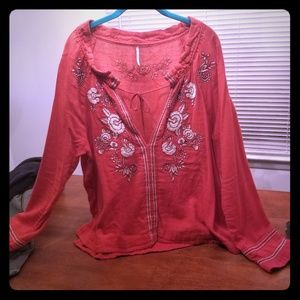 XL free people blouse